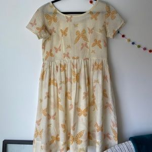 vintage butterfly babydoll dress thrifted in Paris